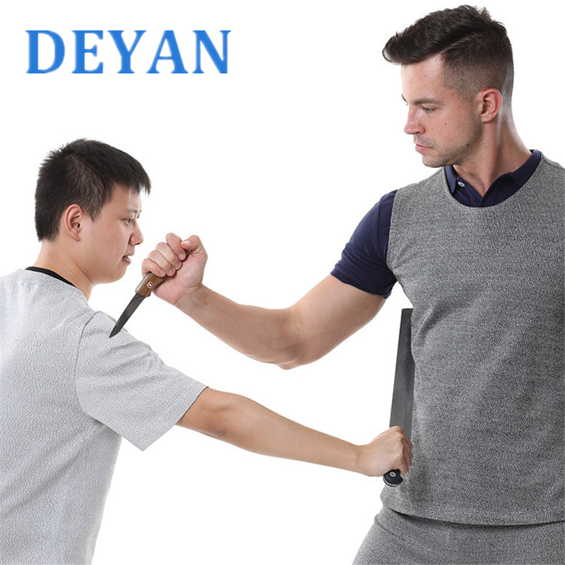 Men's Gray Self-defense Clothing Anti Cut Tactical Vest Police And Security Staff Security Equipment
