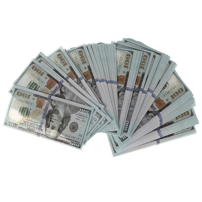 100 шт./компл. креативные миниатюрные банкноты на 100 долларов, детские игрушки, подарки 1:12, миниатюрный кукольный домик, аксессуары