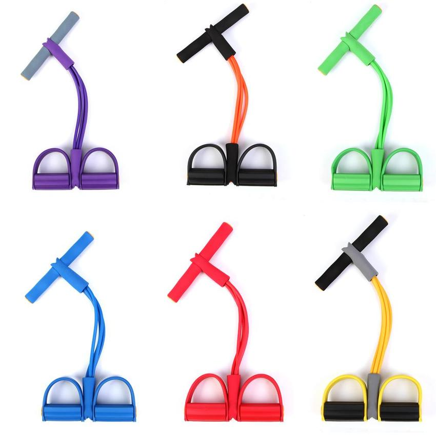 Multi-Function Pedal Exerciser Sit-up Tension Rope Yoga Rope Sports  Puller Fitness Abdomen Exercise
