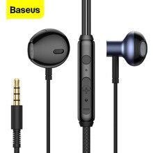 Baseus H19 Bedrade Oortelefoon Stereo Bass Koptelefoon Headset 3.5Mm In-Ear Draad Hoofdtelefoon Voor Iphone Xiaomi Hifi Sport gaming Oortelefoon