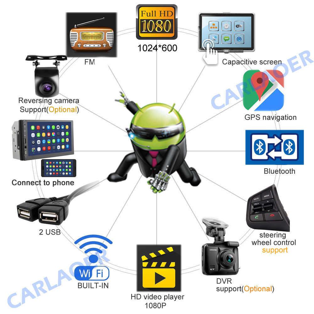 """車のマルチメディアプレーヤーの Andriod GPS ナビゲーション 2DIN HD Autoradio 4 グラム WiFi USB FM 2 Din 7 """"カーオーディオラジオステレオビデオ 1 グラム 2 グラム RAM"""