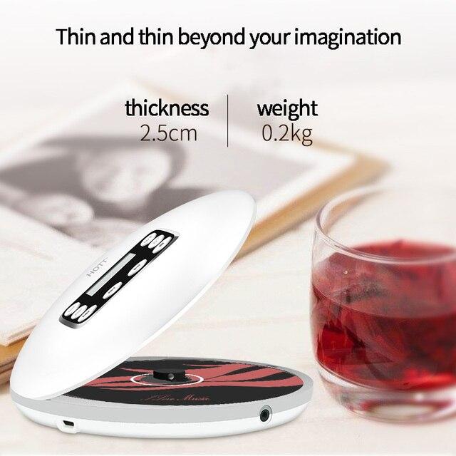 FFYY HOTT 711T Bluetooth נגן CD נייד עם סוללה נטענת LED תצוגה, אישי CD ווקמן כדי ליהנות והשמע