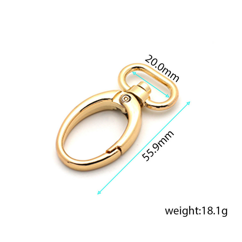 50pcs/lot Bags Gold Swivel Lobster Clasp Clips Key Hook Keychain Split Key Ring Findings Clasps For Keychains Making Tote bag