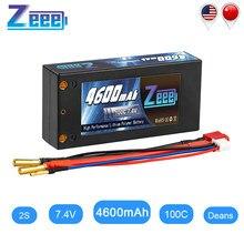Zeee – batterie Lipo 2S, 7.4V, 4600mAh, 100c, pour voiture, camion, bateau, RC, avec connecteur Ultra, 4mm