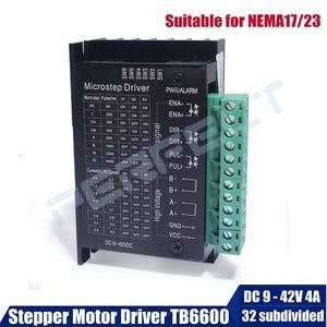 Stepper Motor Driver TB6600 Nema 19 Nema 23 Nema 34 42/57/86 Nema17 4A DC9-40V Stepping Motor CNC Engraving Machine(China)