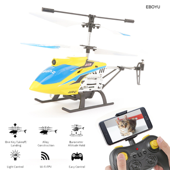 Mini Helicopter Aluminum Alloy Body 2.4G Drone With Camera HD One-button takeoff/landing quadcopter Dron Self  RC Helicopter toy