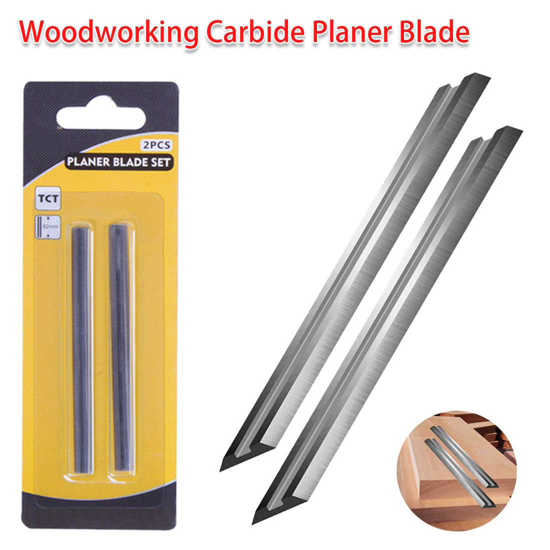 Electric Planer Blade Reversible Wood Planer Knife For Woodworking Machinery Parts Portable Carbide Planer Blade 82x5.5x1.2mm