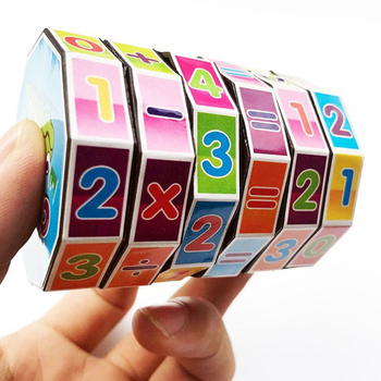 Children Montessori Games Mathematics Numbers Magic Cube Toy Puzzle Game Kids Learning Education Math Toy Fun Calculate Game image