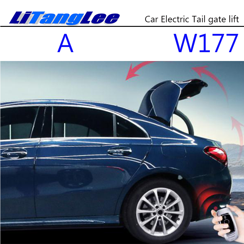 LiTangLee Car Electric Tail Gate Lift Trunk Rear Door Assist System For Mercedes Benz A W177 2019 Sedan Remote Electric Handle