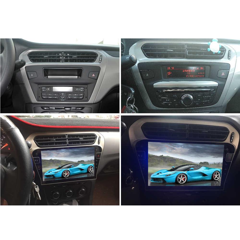 Sinosmart 8.1 2Din IPS/Qled 2.5D Layar Mobil GPS Radio Navigasi Pemain untuk Peugeot 301 2013-2016