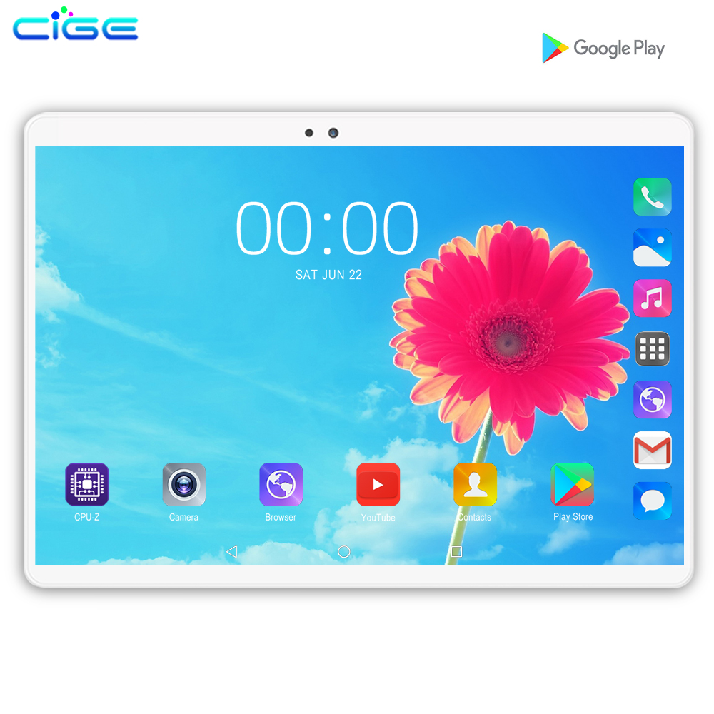 2019 New WiFi Android Tablet 10.1 Inch Octa Core 4G Lte Network Android 9.0 Bluetooth Call Phone Tablets Pc Gift 128G ROM