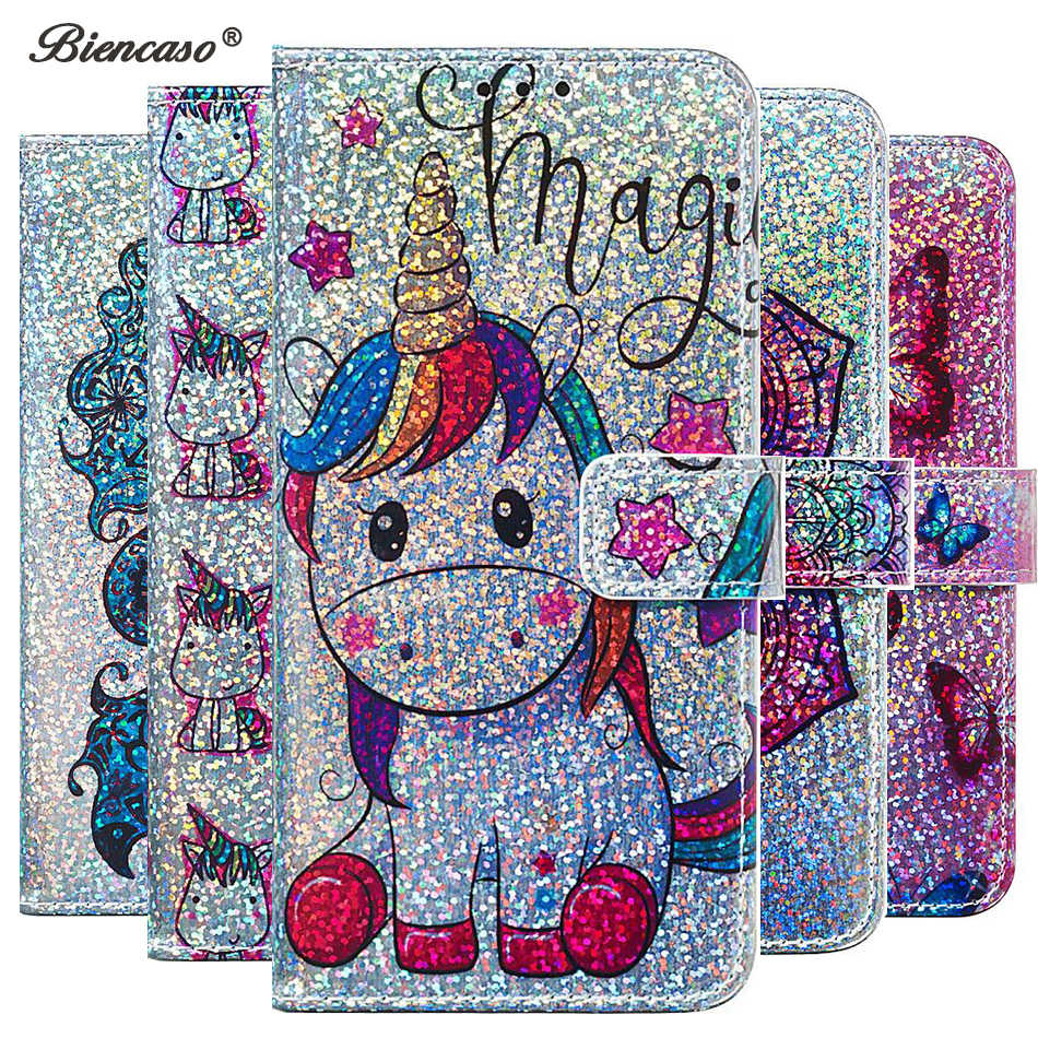 Shining Unicorn Pattern Wallet Flip PU Leather Cases For LG Aristo 2 Stylo 4 Q Stylus K40 K12 Plus Back Cover Redmi 7A K20 Pro