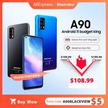 Blackview a90 smartphone helio p60 octa núcleo 12mp hdr câmera celular 4gb + 64gb 4280mah android 11 telefone 4g lte celular