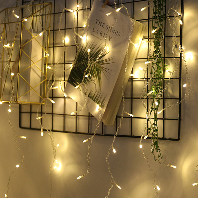 Connectable 5M 96 Led Curtain Icicle String Light Patio Christmas Outdoor Decor Lamp Wedding Party New Year Home EU Plug