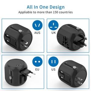 Image 2 - NTONPOWER Universal Adapter Alle In One International Travel Plug Adapter mit Typ C QC 3,0 Wand Ladegerät für UNS/EU/AU/UK