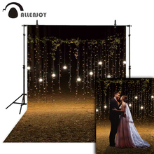 Allenjoy photo background lights leaves grass autumn outside wedding night photocall photozone photography backdrop photophone