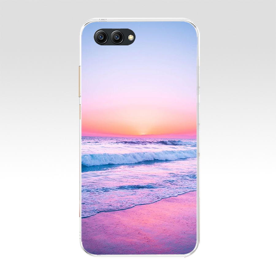 Summer Beach Scene At Sunset On Sea Palm Soft TPU Case Cover For Huawei Honor 10 10 Lite 20 20 PRO Lite