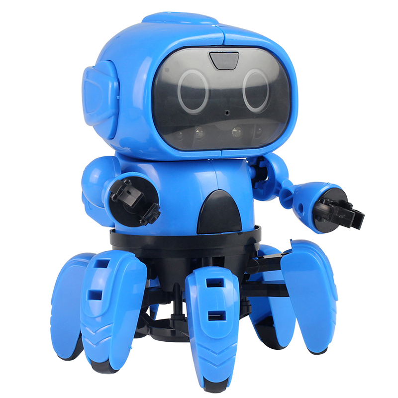 MoFun-963 DIY Assembled Electric Robot Infrared Obstacle Avoidance Educational Toy Infrared Obstacle Avoidance Follow Mode Gift