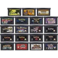 32 Bit Trò Chơi Hộp Mực Tay Cầm Thẻ Dành Cho Máy Nintendo GBA Pokeon Lightng Vàng Của Tôi Mông Ngoài Vòng Pháp Luật Ngọc Trai Vàng Tia Cực Tím Tiếng Anh