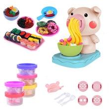 купить 1pcs Kids Kitchen Toy Set DIY Noodles Machine Toy  Playdough Clay Dough Plasticine Ice Cream Machine Mould Play Kit DIY Toy по цене 572.5 рублей