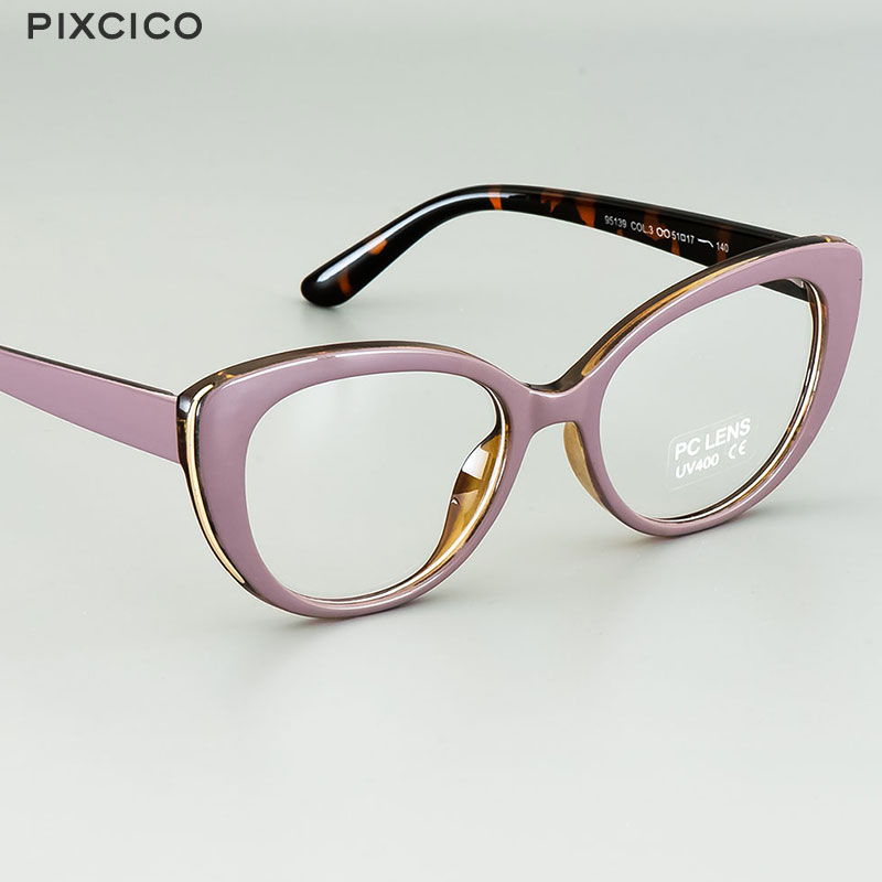 Pixcico 45677 Cat Eye Glasses Frames Women  Optical Fashion Computer Glasses