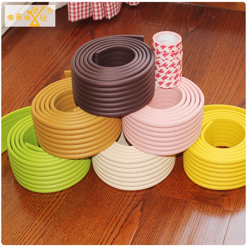 1PC 2m Wide Version Protective Baby Safety Desktop Edge Corners Guards Rubber Protection For Child