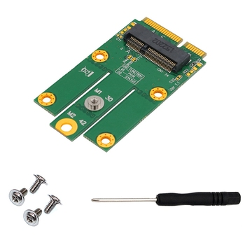 M.2 NGFF/Key E Card to MPCIe (PCIe+USB) Adapter MPCIe Slot Support Windows 2000 XP for Laptop Desktop
