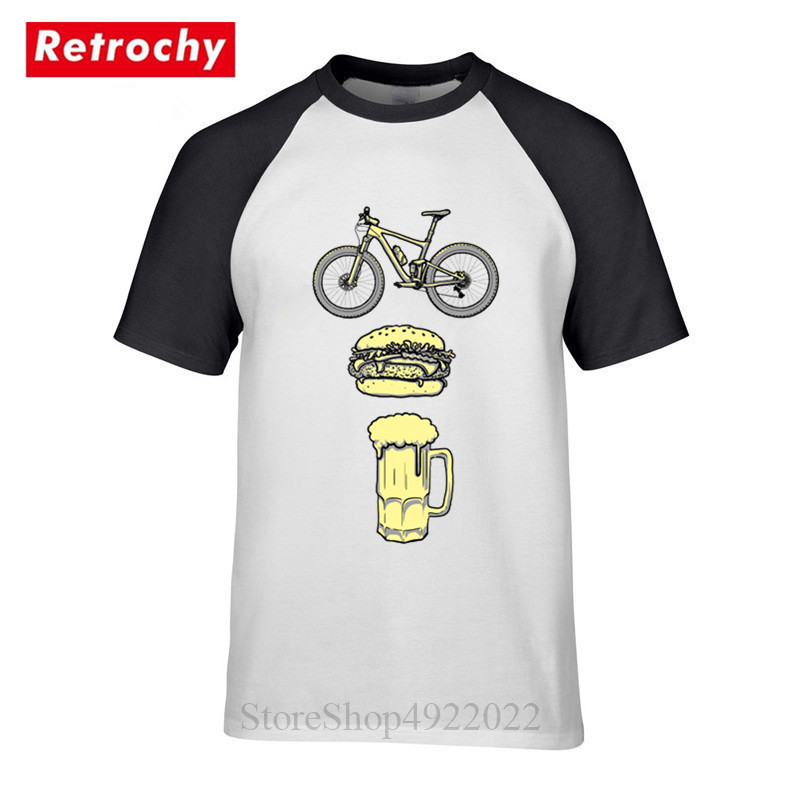 Breathable Sports T-SHIRT Cycling Birthday Gift Bike Born To Ride Ride To Live