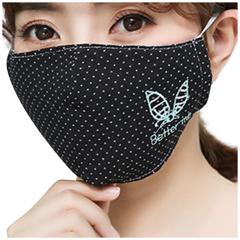 H6cdcdb528c4245b3999eb46a9b28a51dD Kawaii Maska Women Cotton Print Facemask Outdoor Riding Quick-drying Dustproof Keep Warm Mask