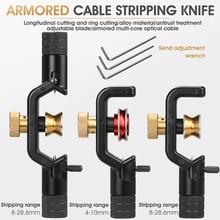ACS 2 zırhlı tel Stripper 4 10mm & 8 28mm optik kablo eğme Fiber optik sıyırma aracı ceket eğme kılıfı kesici