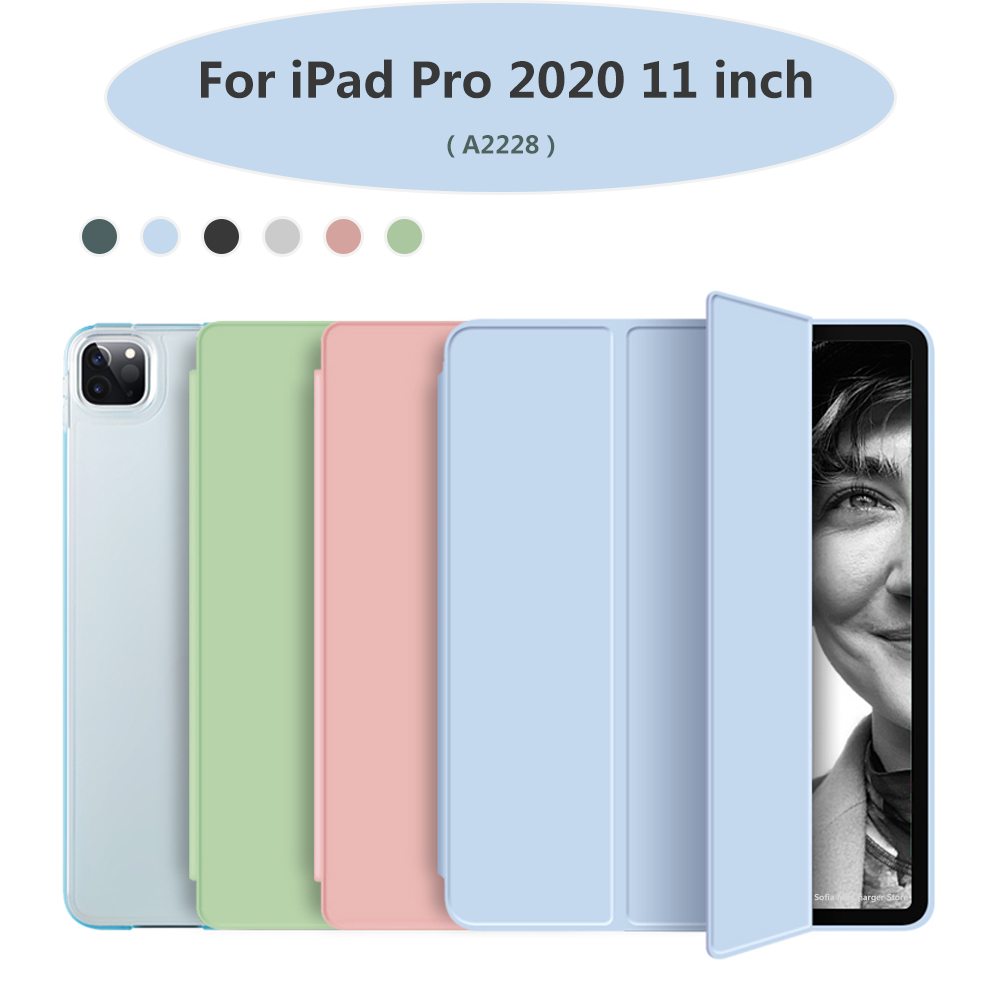 For Stand Leather PU soft bottom + with iPad 2020 Funda 11 Trifold inch Pro Case Hard PC