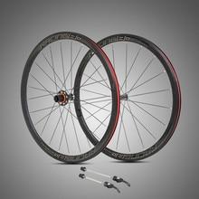 RS ultra light 700C wheels carbon fiber hub  4 sealed bearings aluminum alloy 36mm rims colorful decal road bike wheel set