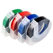 Cinta de plástico en relieve Dymo 3D Original de 9MM para hacer etiquetas en relieve, etiqueta de PVC para DYMO M1011 1610 1595 1540 Motex E101