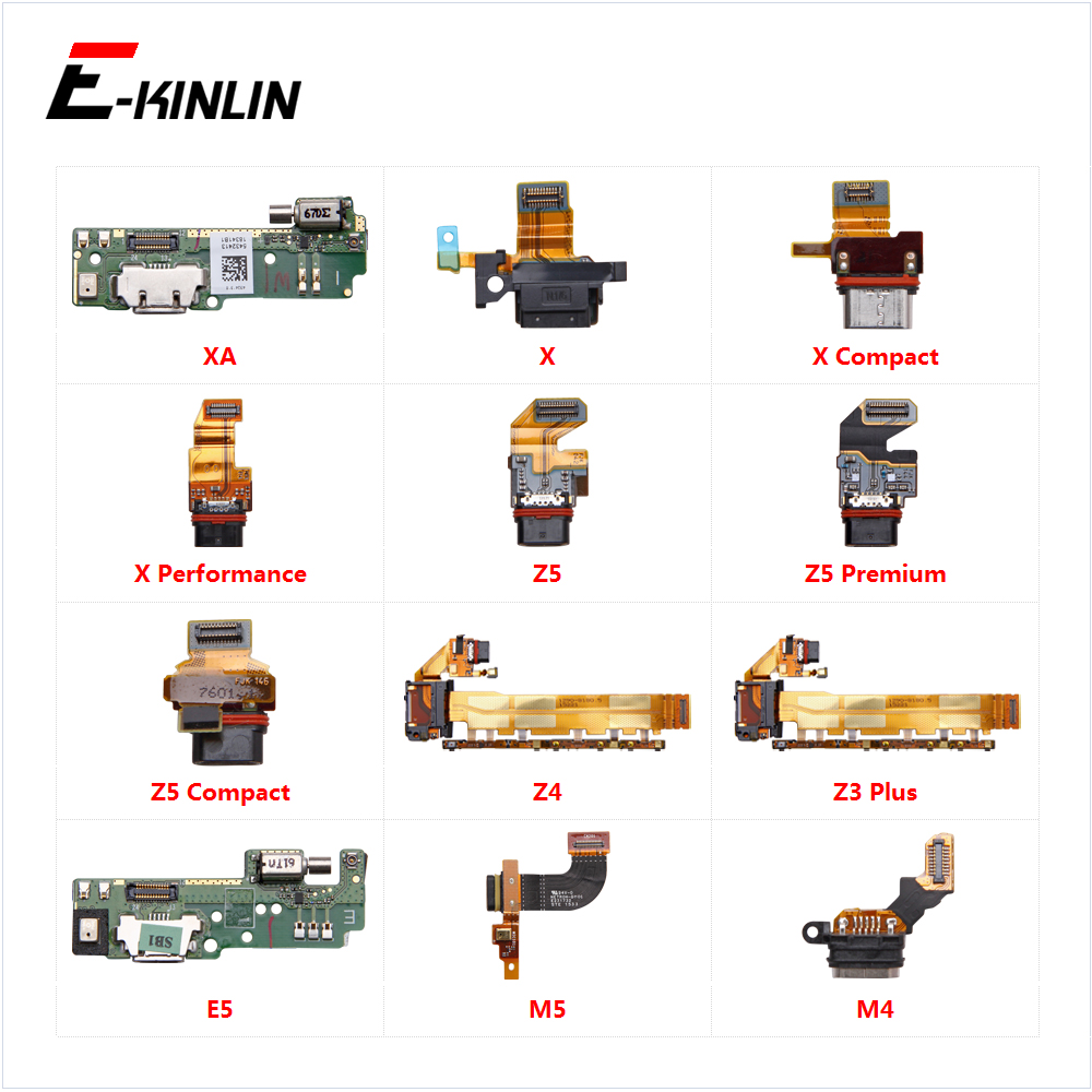 Charging Port Connector Board Parts Flex Cable For Sony Xperia XA X M5 M4 E5 Z3 Z4 Z5 Compact Premium Plus Performance