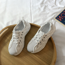 YeddaMavis Shoes White Daddy Women Sneakers New Korean Wild Lace Up Running Womens Woman Trainers