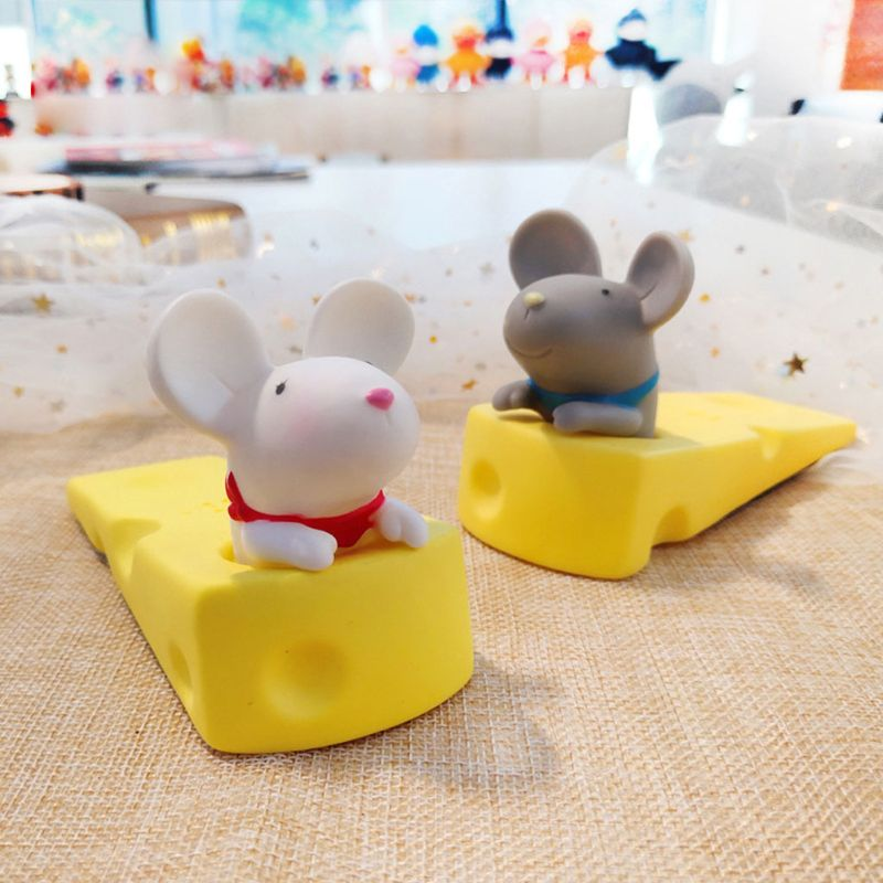 Portable Cute Door Stops Cartoon Creative Silicone Door Stopper Holder Safety Toys For Children Baby Home Furniture Hardware