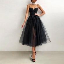 2021 verão malha vestido feminino sexy sem mangas cinta de espaguete preto a line feminino formal vestidos longos de festa roupas das senhoras