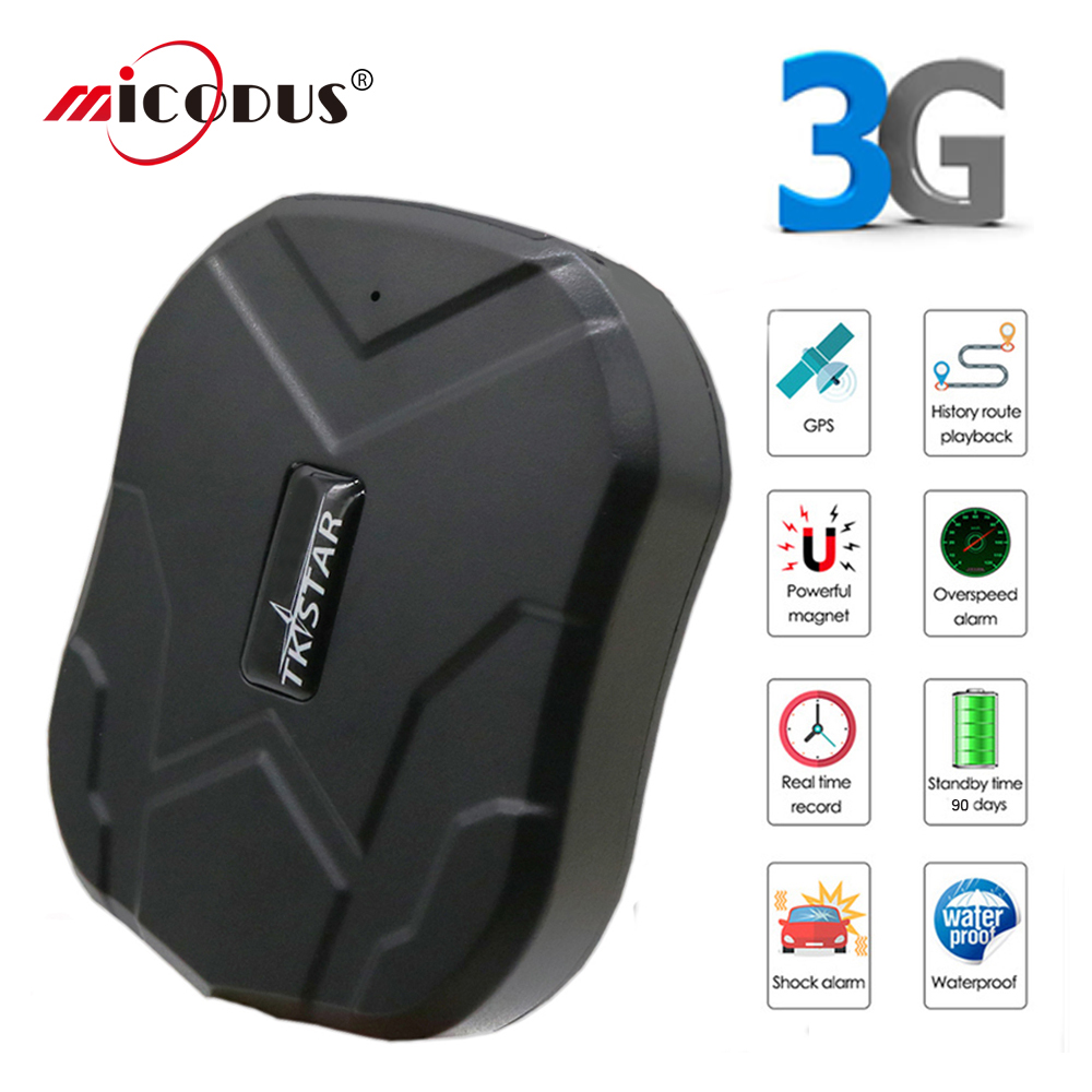 Tkstar 3G GPS Tracker voiture GPS Tracker véhicule TK905 GPS localisateur étanche aimant moniteur vocal longue durée de vie en veille application gratuite