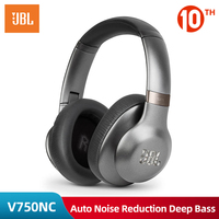 JBL V750NC Wireless & Wired Headphone Portable Audio Bluetooth Headset Automatic Noise Reduction Deep Bass Video with Microphone