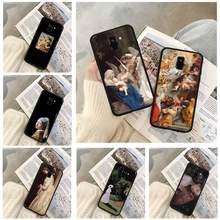 Capas de telefone pintura para huawei p9 p10 p20 p30 p40 lite por psmart 2019