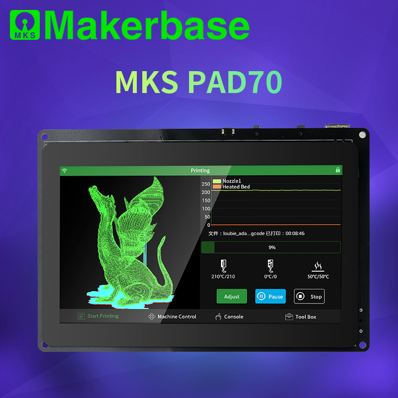 Makerbase MKS Pad7 kapazitiven smart display 7,0 zoll Android Pad 3D drucker teile gcode visualizer online scheibe fernbedienung druck