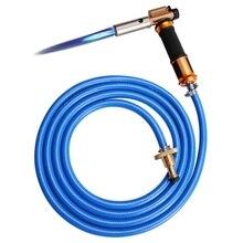 Сварочный фонарь для сжиженного газа с электронным зажиганием, комплект со шлангом 3 м для пайки, жарки, нагревания
