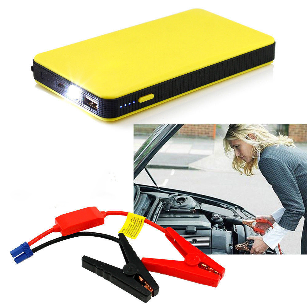 100% 8000mAh Portable Mini Slim Car Jump Starter <font><b>Power</b></font> <font><b>Bank</b></font> <font><b>12V</b></font> Engine Battery Charger Booster Car battery Starter Charger image