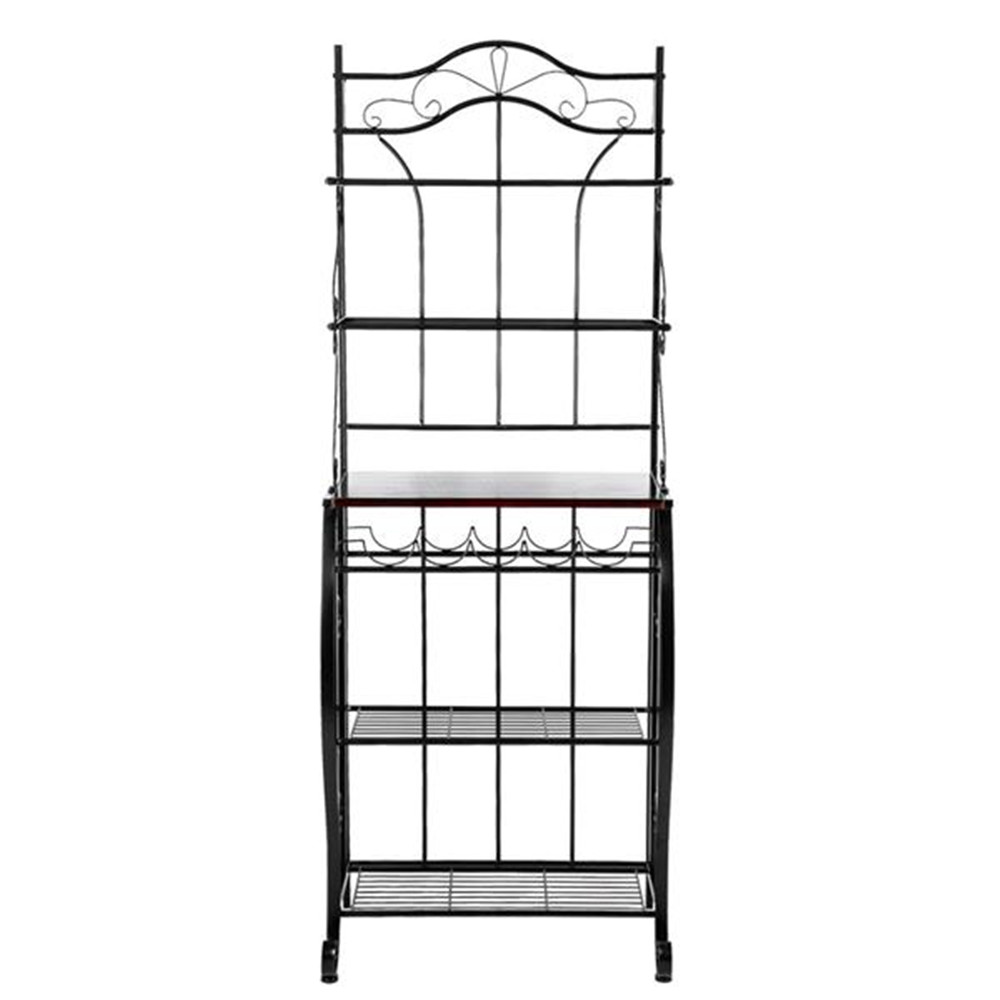 5 tier metal cozinha rack de metal cozinha padeiros decoração para prateleira de armazenamento de cozinha para sala de estar - 5