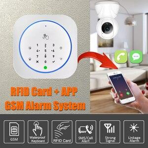 Image 2 - Sistema de alarme seguro app gsm, teclado touch, 433mhz, porta aberta e fechada, alarme, infravermelho, imunidade animal detector de movimento
