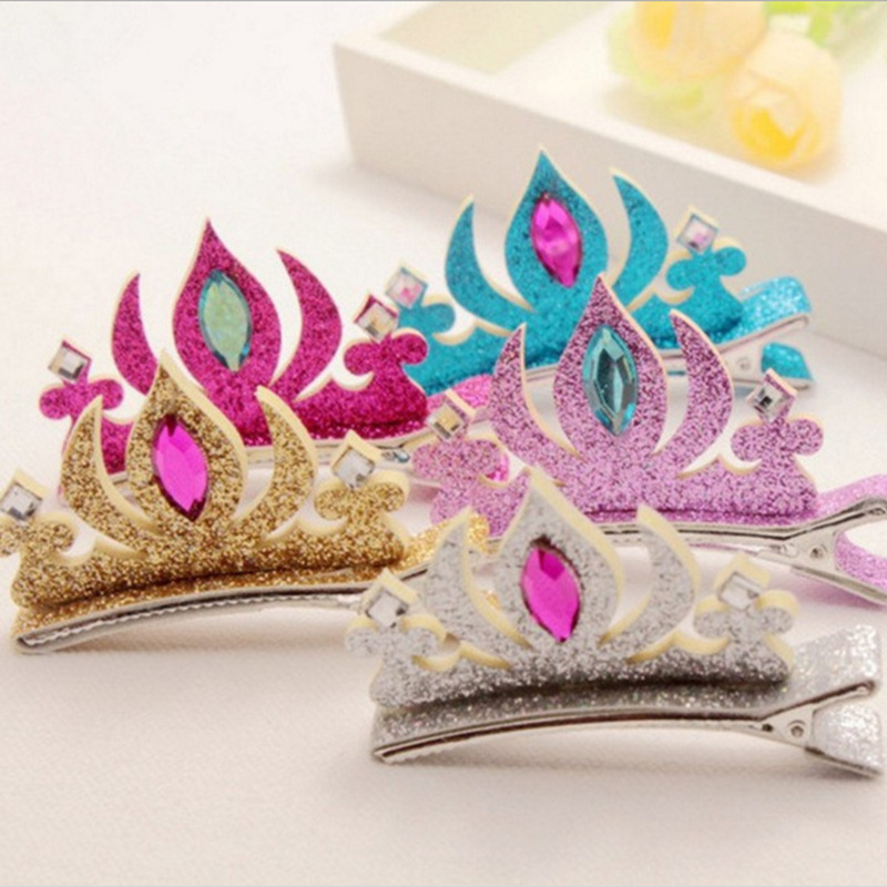 Children's Hair Clip Headwear  Princess Crown Hair Clip Sequins Hairpin Hair Accessories Hair Bands For Women