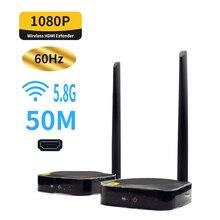 5.8GHz wireless HDMI extender 1080P 60Hz HDCP Video Converter per PC HDTV HDMI per la connessione wifi HDMI senza fili trasmettitore e ricevitore