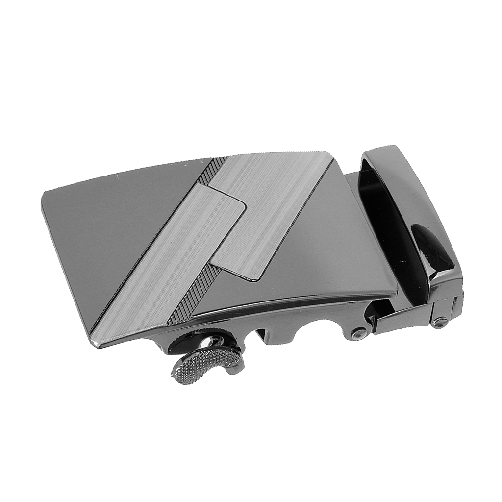 Alloy Automatic Waistband Buckle Man Belt Buckle Replacement Repair Accessory Fashion Men's Business Metal Buckle Black Color