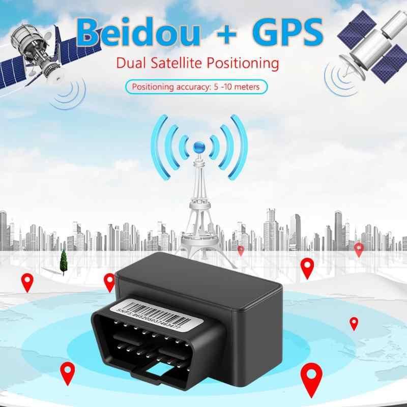 OBDII GPS Tracker Plug Bermain Mobil GSM 16PIN OBD Alat Pelacak GPS Beidou Locator Getaran Alarm Online Software Aplikasi Android IOS