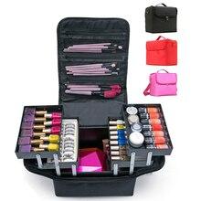 Make Upกระเป๋ามือถือขนาดใหญ่Multi Layerเล็บHairdressingเย็บปักถักร้อยชุดเครื่องมือเครื่องสำอางค์เครื่องสำอางค์กระเป๋า